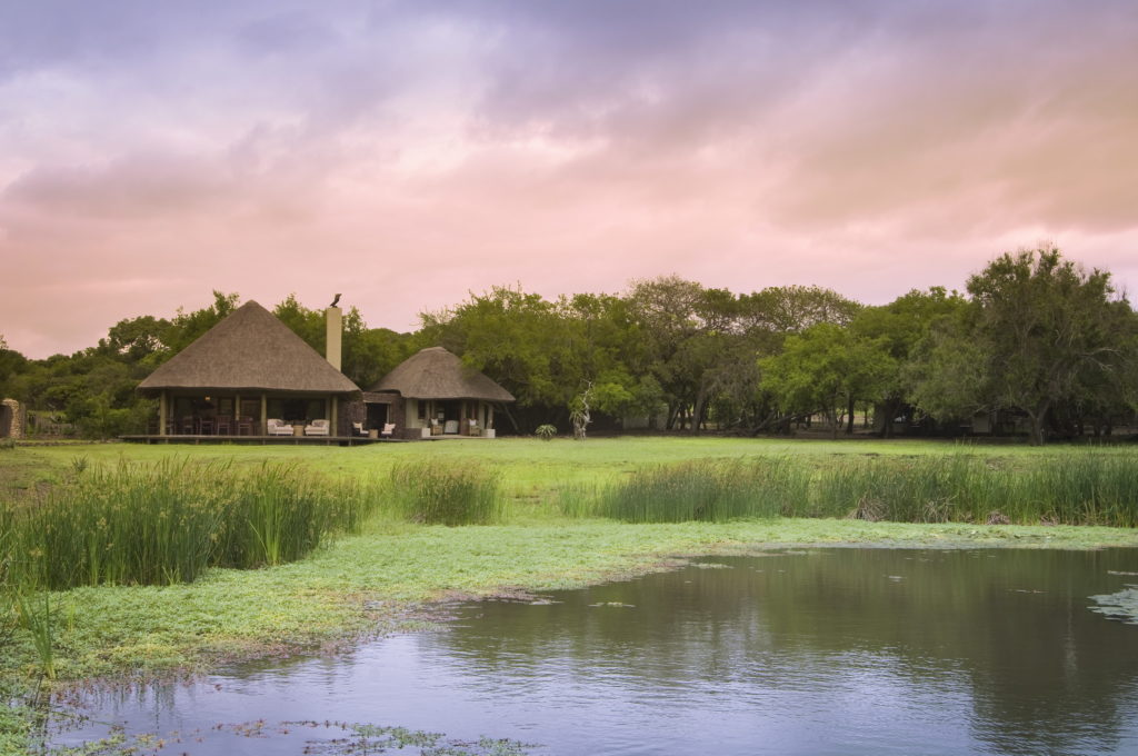 South Africa - andBeyond Phinda Private Game Reserve - Zuka Lodge - Waterhole at dusk