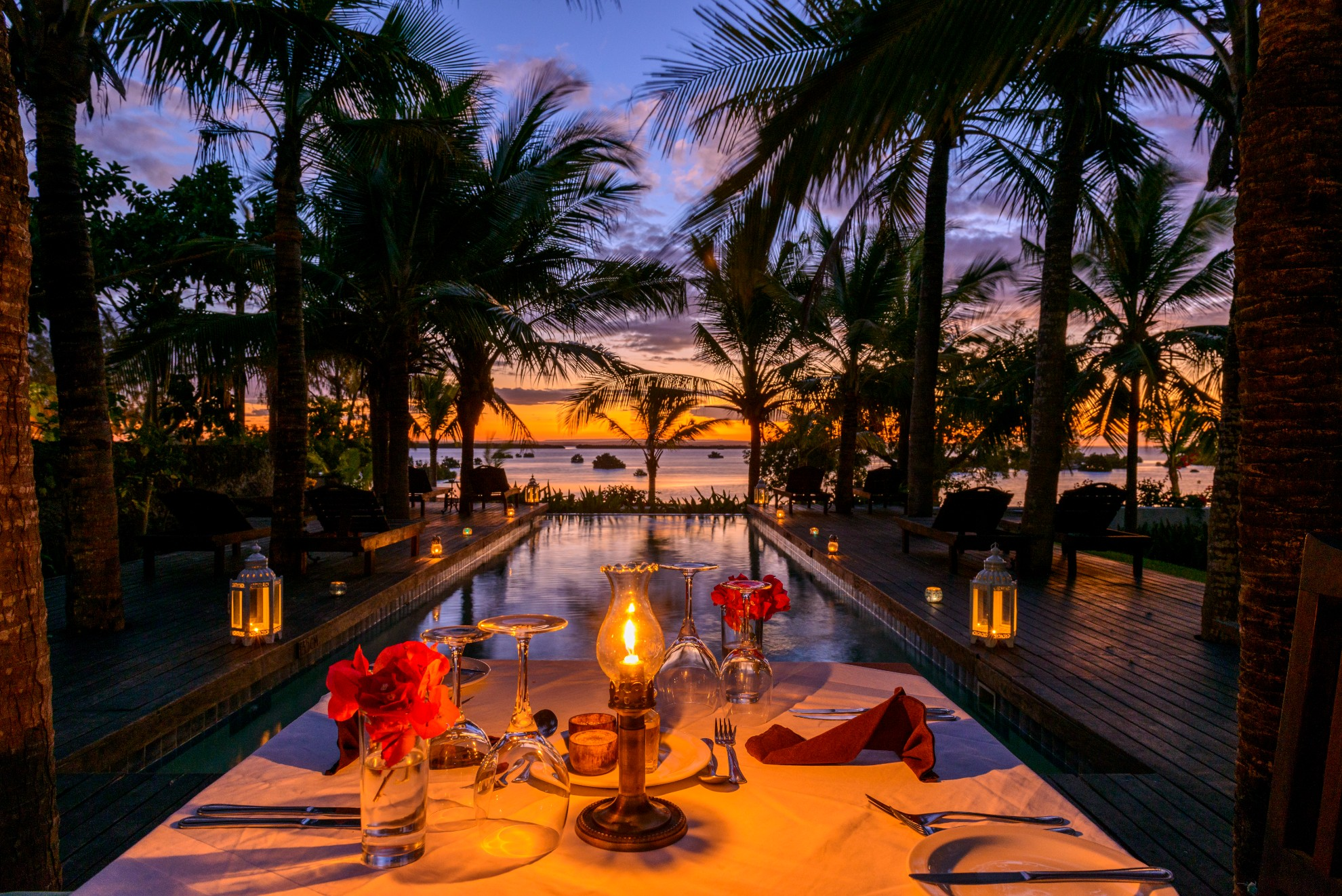 Ibo Island Lodge Poolside Dinner