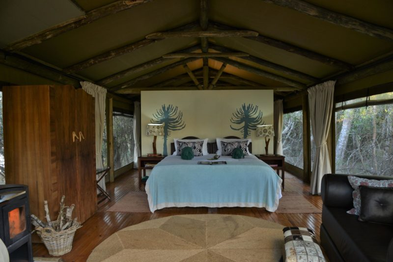 South Africa - Eastern Private Game Reserves - Sibuya River Camp - Tent interior