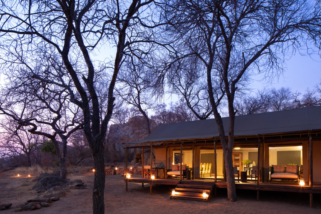 South Africa - Selati Game Reserve - 4948 - Camp Exterior at Night