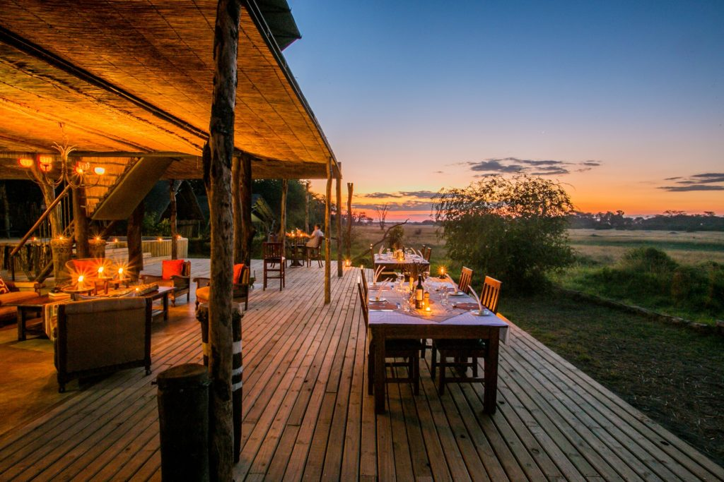 Zimbabwe - Hwange - 1564 - Decking with Dining Chairs