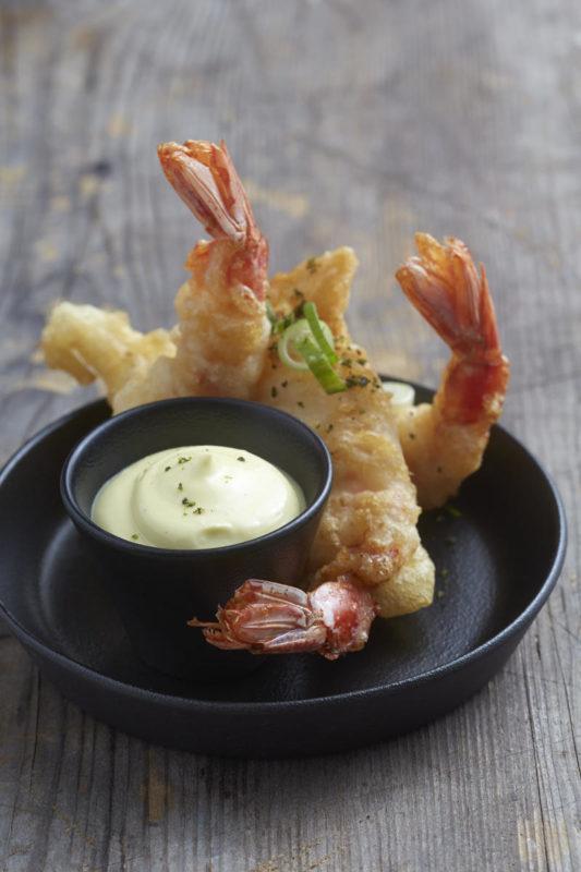South Africa - Cape Town - Belmond Mount Nelson - Planet Bar - Bar snacks tempura prawns