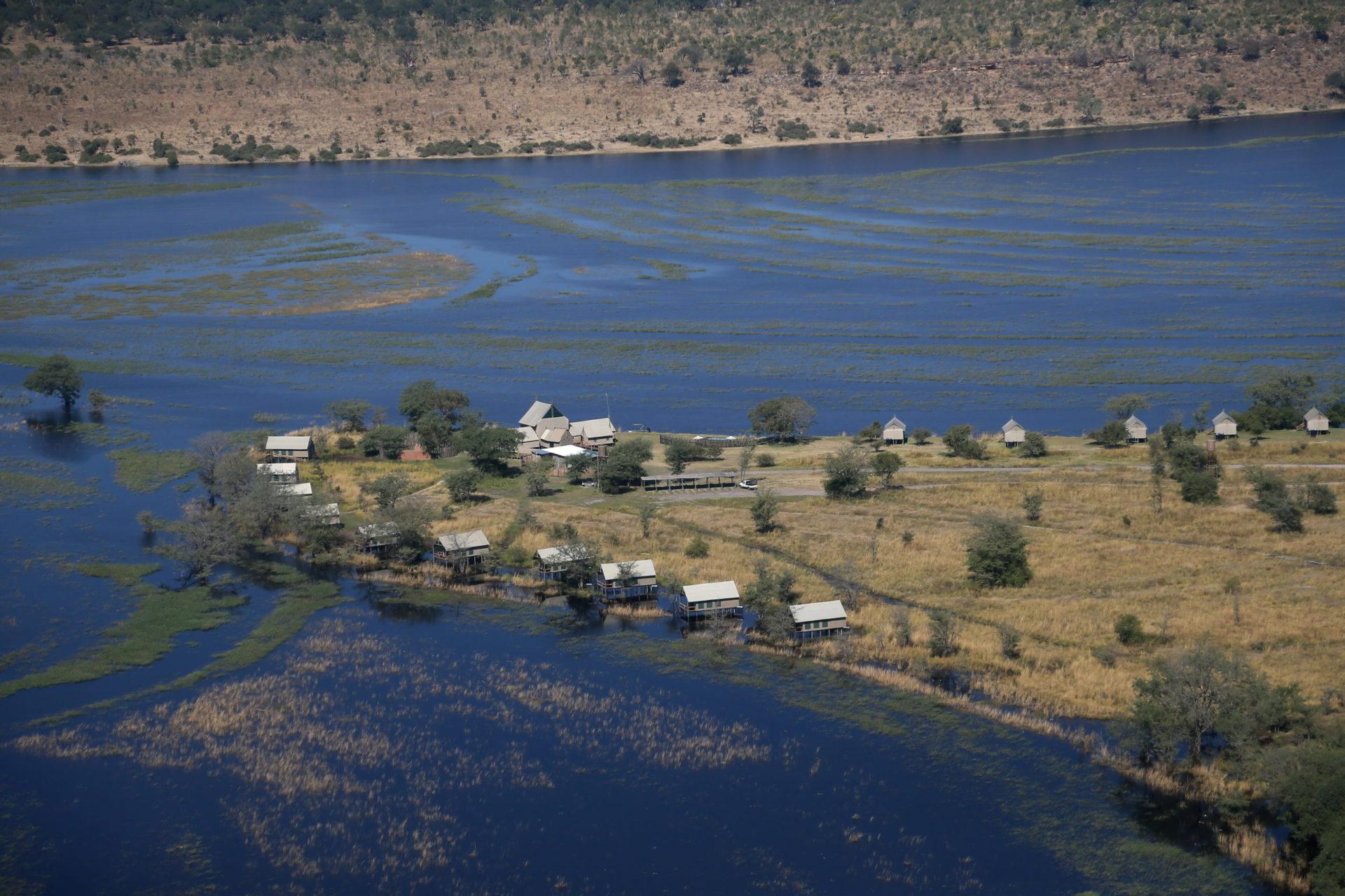 Namibia - 1552 - Chobe River Camp - Aerial