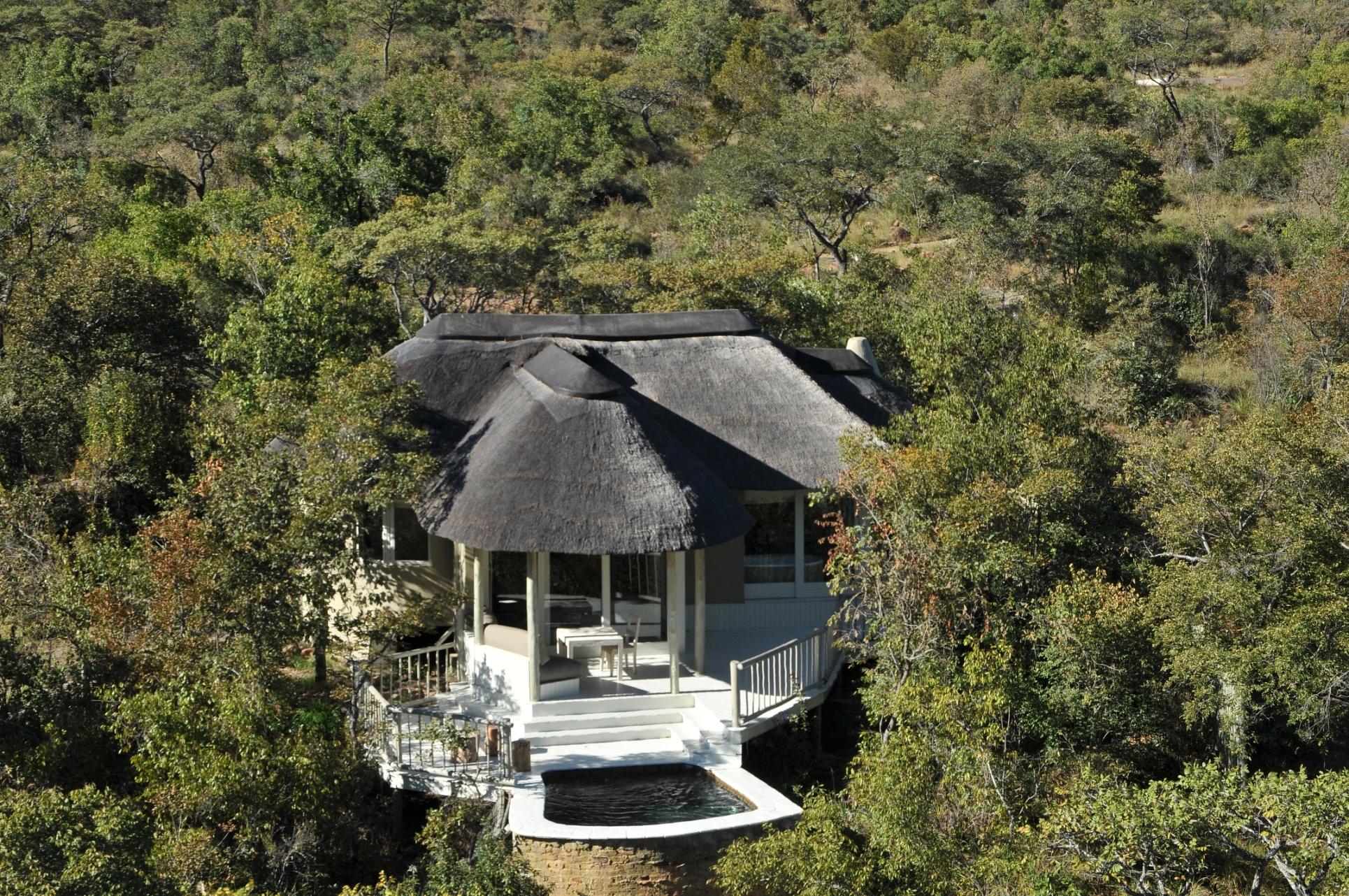 Clifftop Exclusive Safari Hideaway Arial View