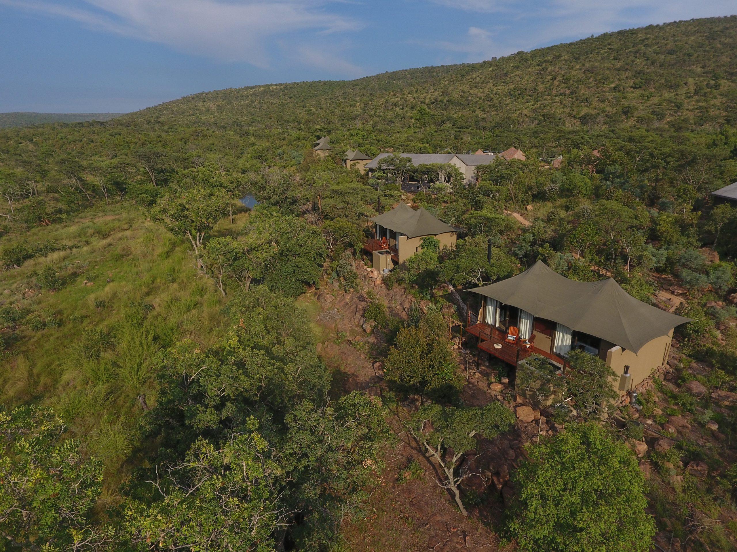 Inzalo Safari Lodge Ariel View