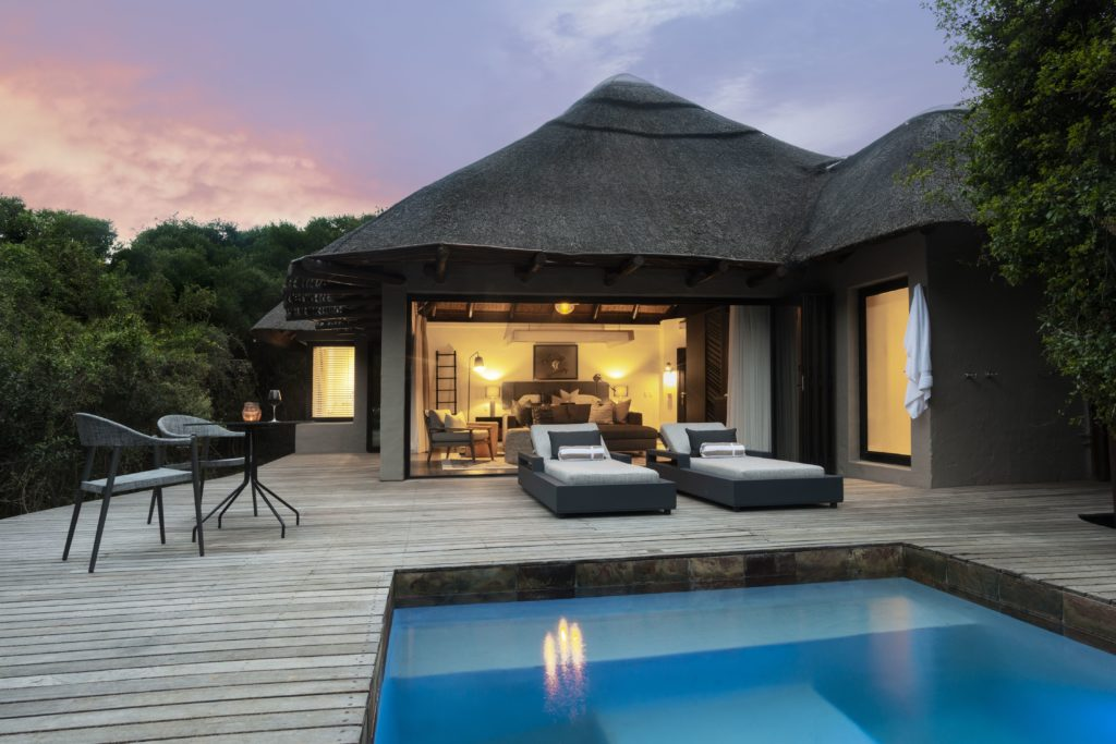 South Africa - Eastern Private Game Reserves - Shamwari Eagle's Crag Lodge - Pool and Decking