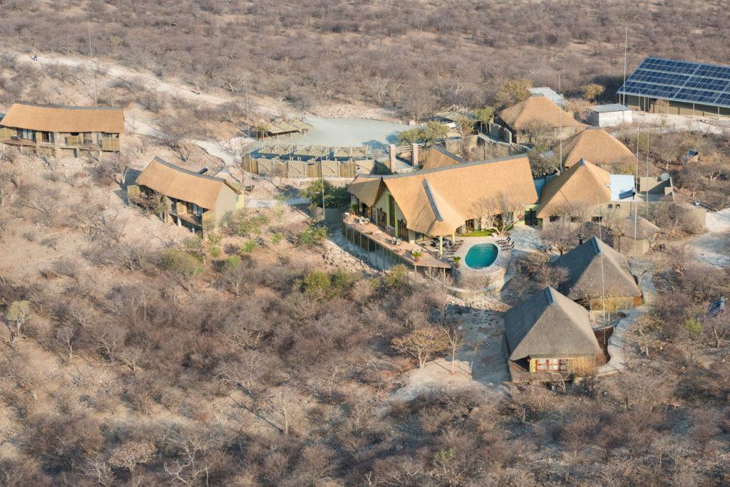 Namibia - Etosha - 1552 - Aerial shot of Lodges
