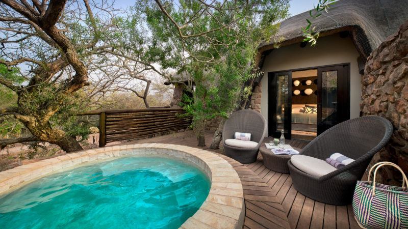South Africa - andBeyond Phinda Private Game Reserve - Mountain Lodge - Mountain cottage pool and decking
