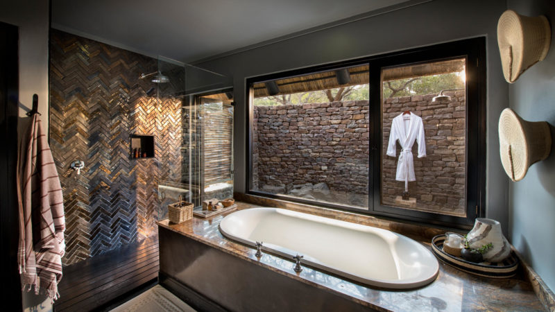 South Africa - andBeyond Phinda Private Game Reserve - Mountain Lodge - Mountain Family Cottage Bathroom