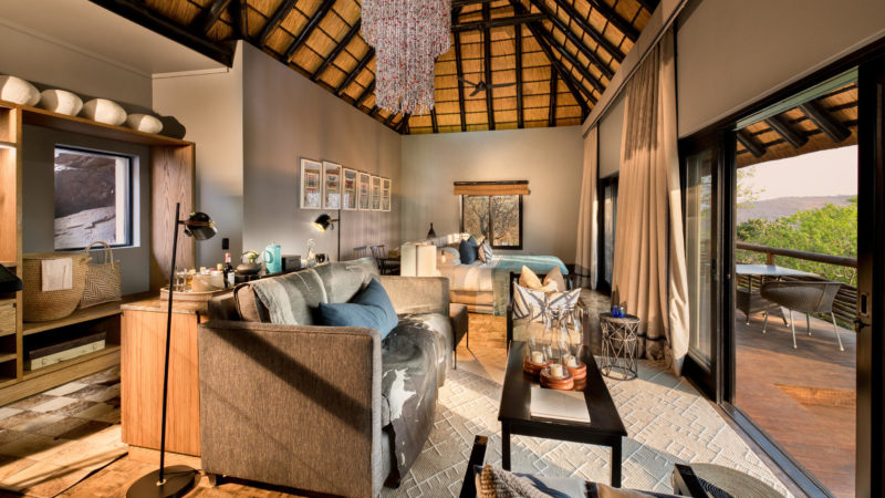 South Africa - andBeyond Phinda Private Game Reserve - Mountain Lodge -Mountain suite sitting area