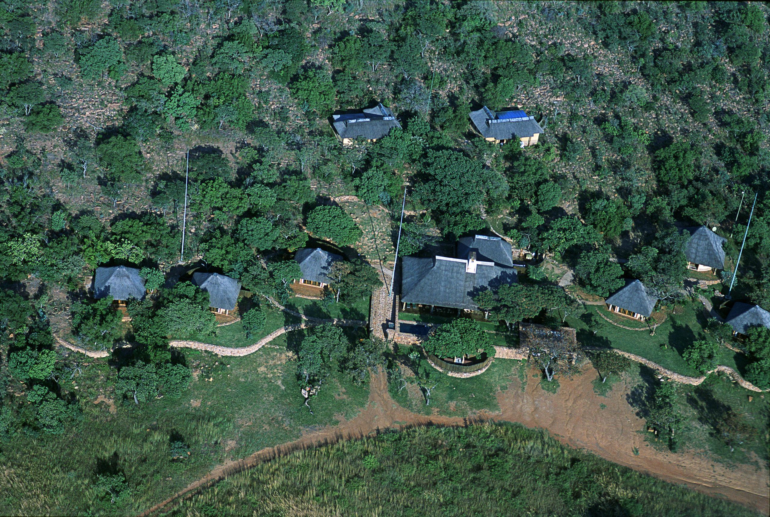 Ekuthuleni Lodge Drone View