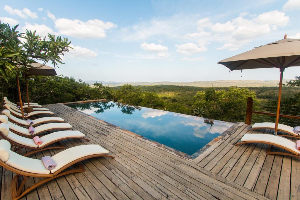 South Africa - Hluhluwe–Imfolozi Park - Rhino Ridge Safari Lodge - Swimming pool views