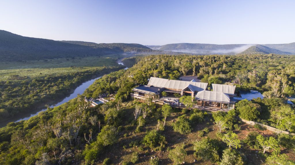 South Africa - Eastern Private Game Reserves - Kariega Settlers Drift - Mountain and river views