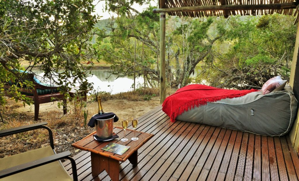 Sibuya Game Reserve Forest Camp Outside Tented Decking Area