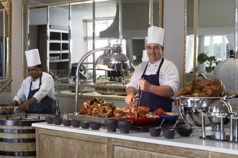 South Africa - Cape Town - Belmond Mount Nelson - Oasis Restaurant - Sunday carvery
