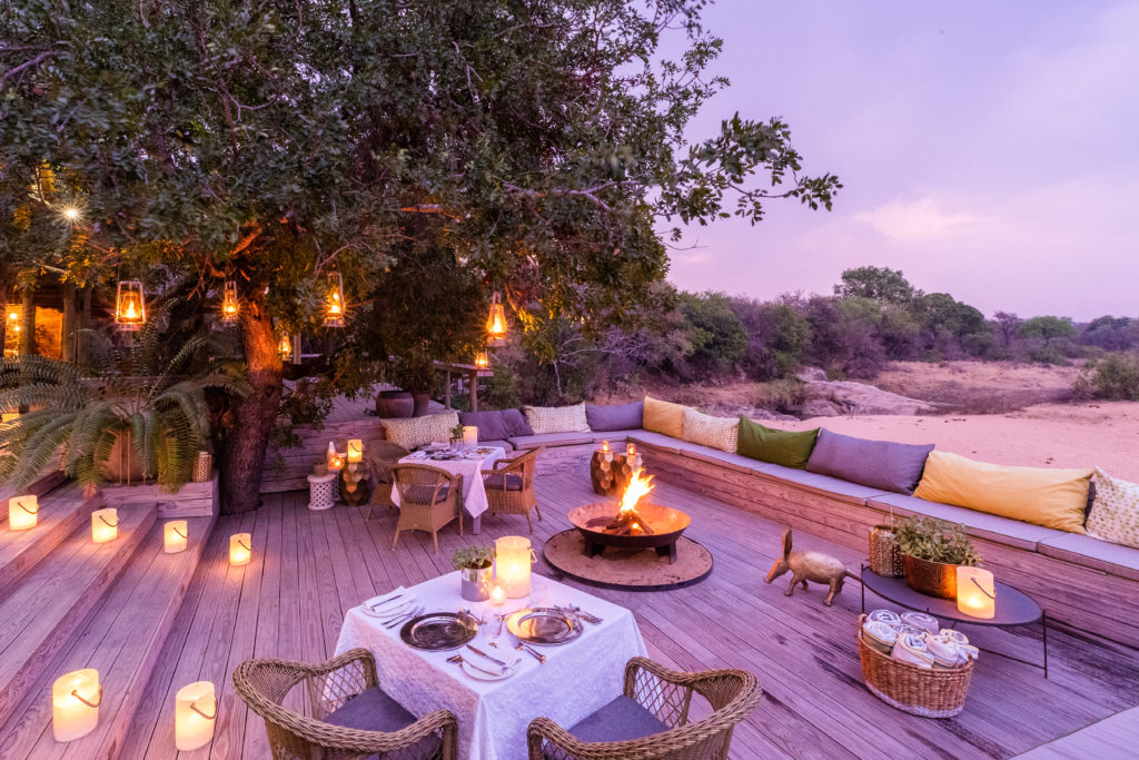 Thornybush Game Lodge Sunset Deck and Seating