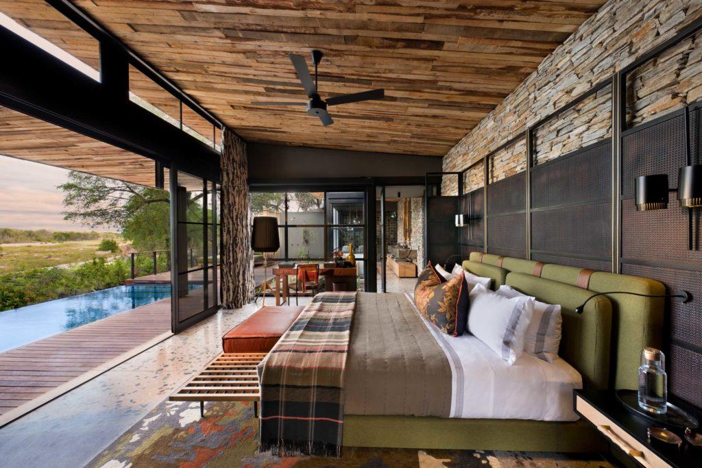 South Africa - Kruger - 4948 - Lodge Bedroom and Plunge Pool