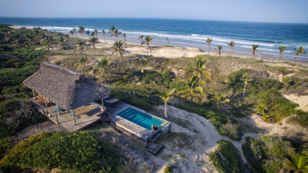 Mozambique - Inhambane - 11895 - Aerial of Pool and Bar