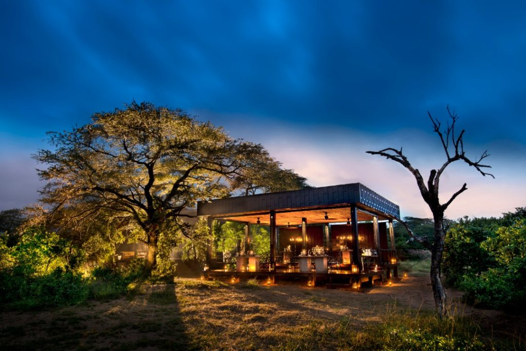 South Africa - andBeyond Phinda Private Game Reserve - Vlei Lodge - Guest Areas at night
