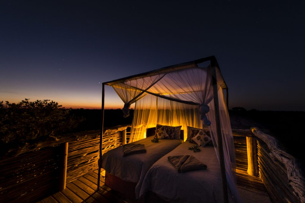 Botswana - Khwai Private Reserve - 1553 - Sky Beds Night time star viewing