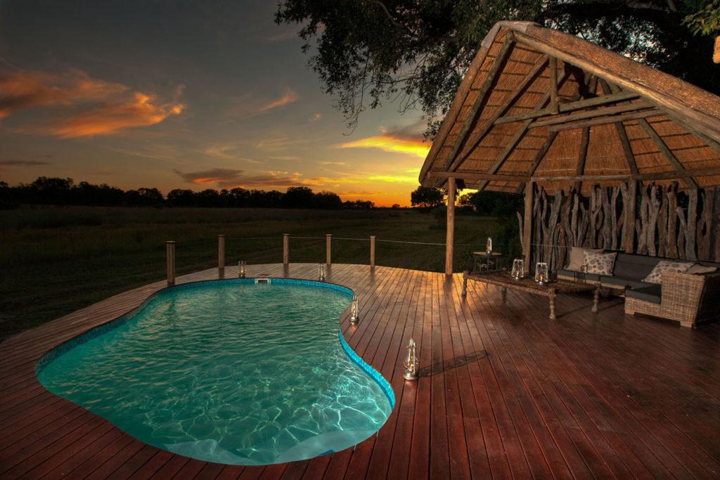 Botswana - Okavango Delta - 1553 - Chitabe Lediba pool and decking views