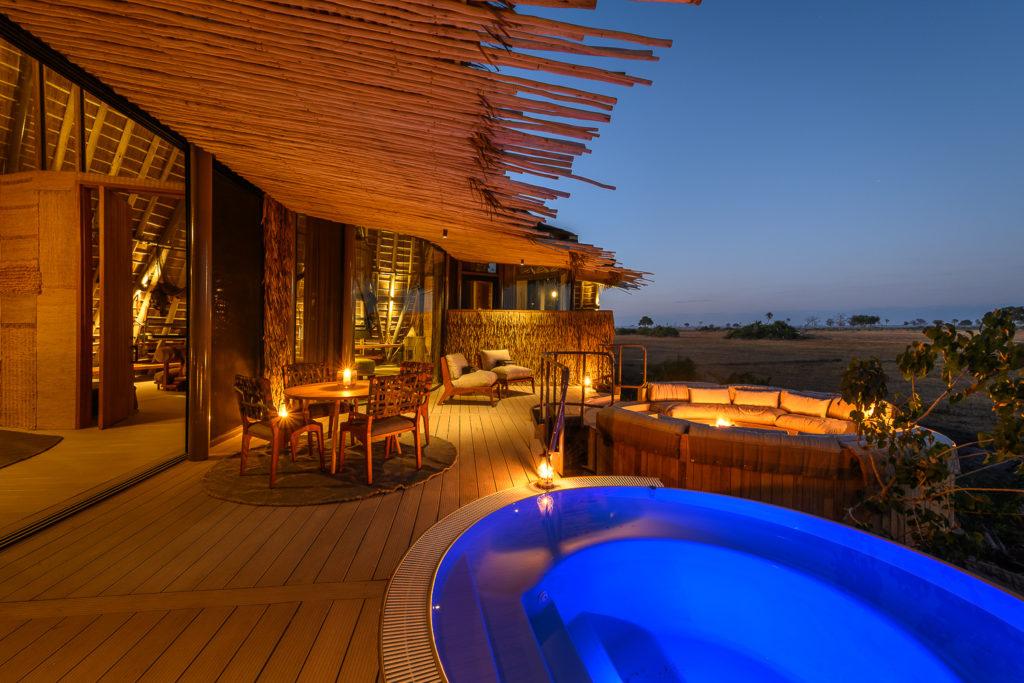Botswana - Okavango Delta - 1553 - Jao Camp 2 bed villa pool at night