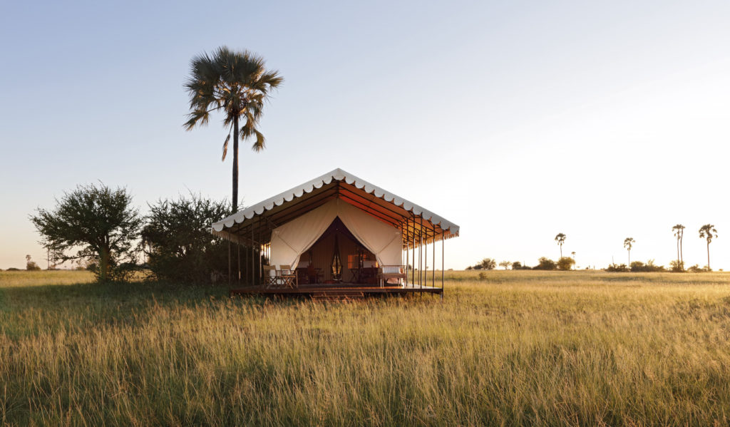 Botswana - Makgadikgadi Salt Pans - 1553 - San Camp Tent outside area