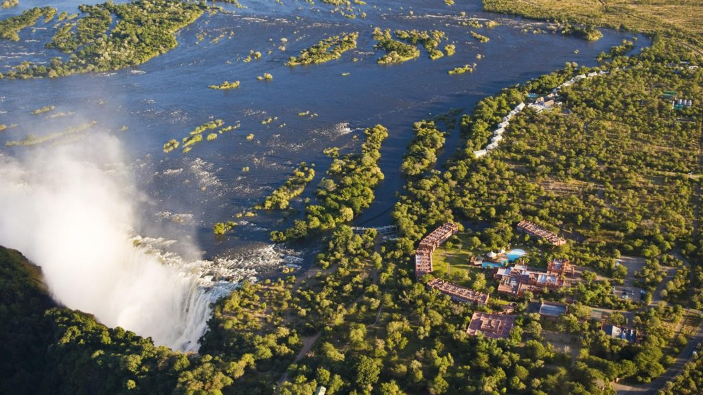 Zambia - Livingstone - 1564 - Aerial shot of Hotel