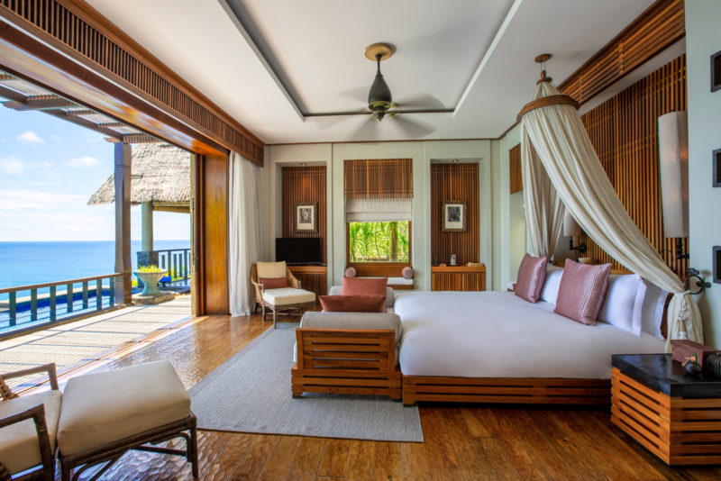 Seychelles - Mahe Island- 1554 - Maia Luxury Resort & Spa - Premier Ocean View Pool Villa Interior bedroom
