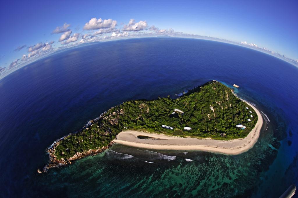Cousine Island_Birds eye view of island
