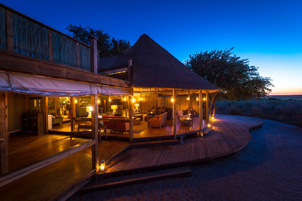 Botswana - Central Kalahari Game Reserve - Kalahari Plains Camp at night