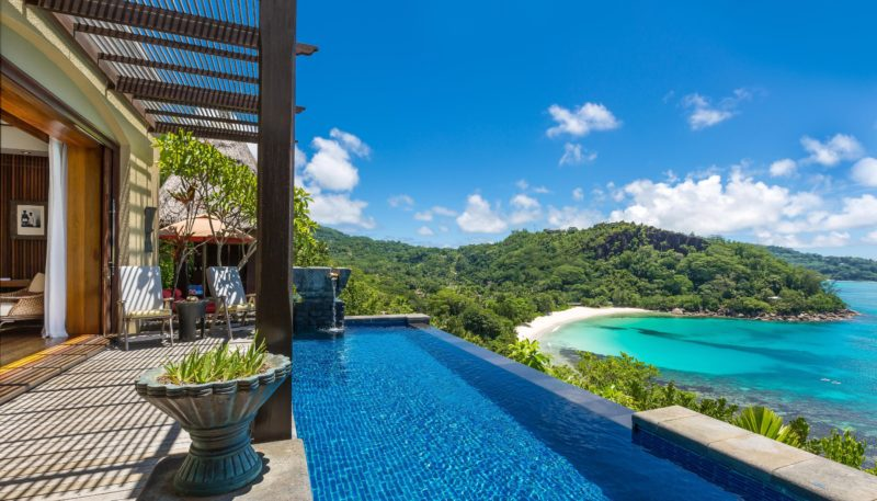 Seychelles - Mahe Island- 1554 - Maia Luxury Resort & Spa - Premier Ocean View Pool Villa - Infinity Pool Views of the beach
