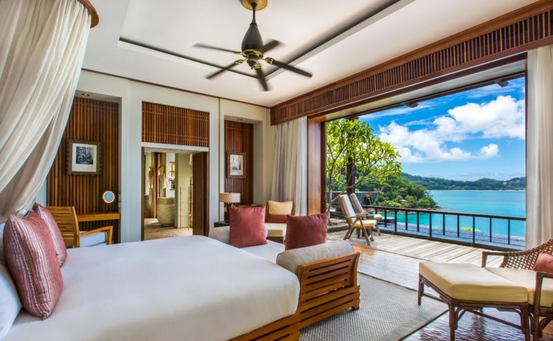 Seychelles - Mahe Island- 1554 - Maia Luxury Resort & Spa - Ocean View Pool Villa - Bedroom views