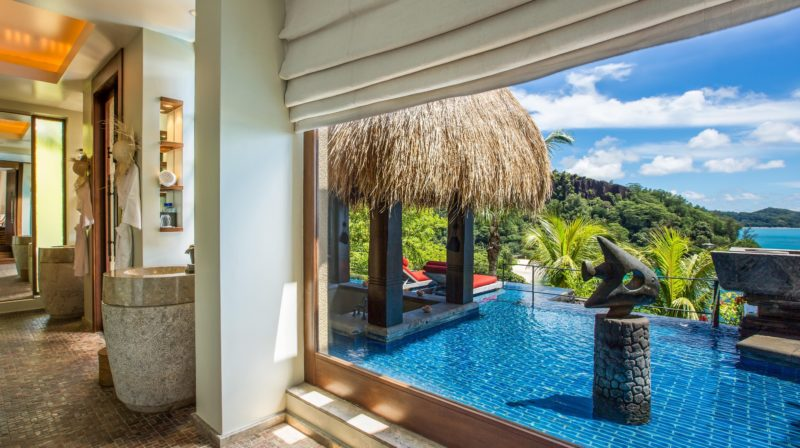 Seychelles - Mahe Island- 1554 - Maia Luxury Resort & Spa - Ocean View Pool Villa - Infinity Pool and views
