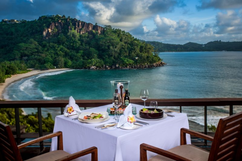 Seychelles - Mahe Island- 1554 - Maia Luxury Resort & Spa - Lunch Platter - In Villa Dining on the decking