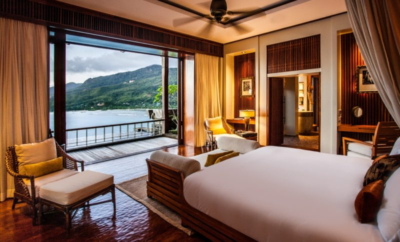Seychelles - Mahe Island- 1554 - Maia Luxury Resort & Spa - Premier Ocean View Pool Villa - Bedroom viewpoint