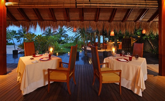 Seychelles - Mahe Island- 1554 - Maia Luxury Resort & Spa - Tec - Tec Restaurant - Dining Candle light