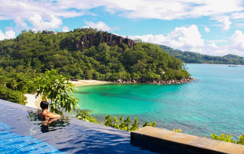 Seychelles - Mahe Island- 1554 - Maia Luxury Resort & Spa - Ocean View Pool Villa - Infinity pool island views