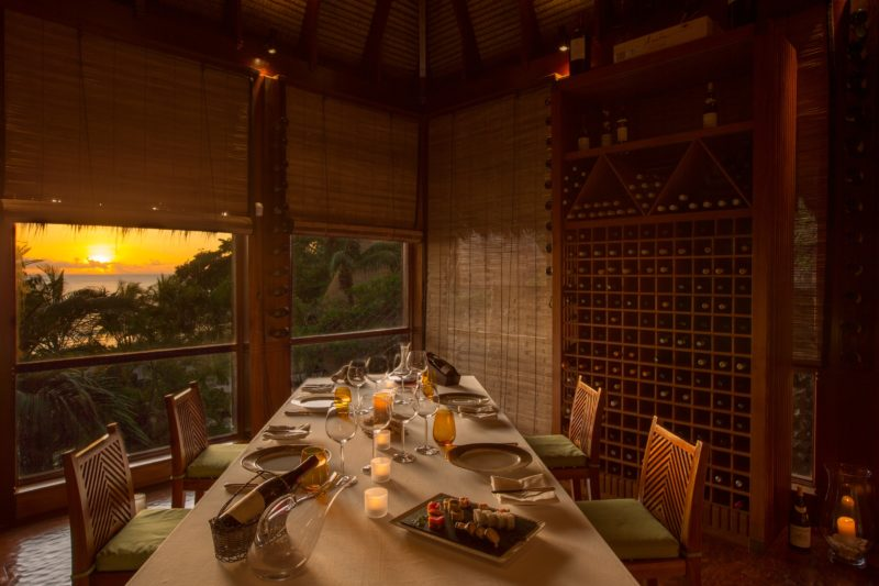 Seychelles - Mahe Island- 1554 - Maia Luxury Resort & Spa - Wine Boutique - Dining at sunset