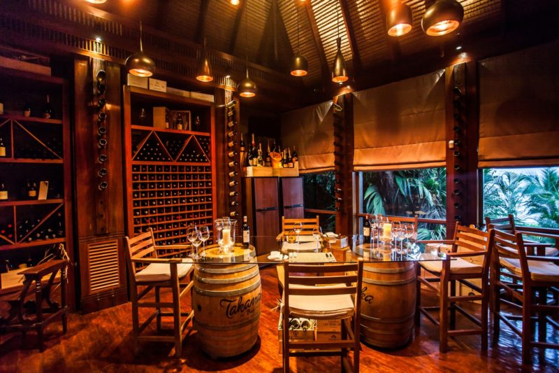 Seychelles - Mahe Island- 1554 - Maia Luxury Resort & Spa - Wine Boutique - Dining and seating