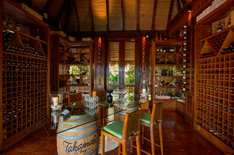 Seychelles - Mahe Island- 1554 - Maia Luxury Resort & Spa - Wine Boutique - Tasting in wine cellar