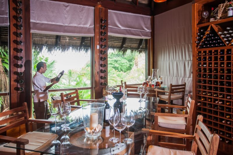 Seychelles - Mahe Island- 1554 - Maia Luxury Resort & Spa - Wine Boutique seating