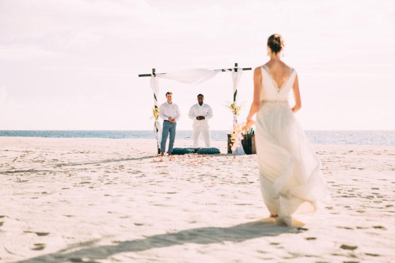 Seychelles - North Island - 1554 - North Island Resort - Beach Wedding - Walking the beach isle