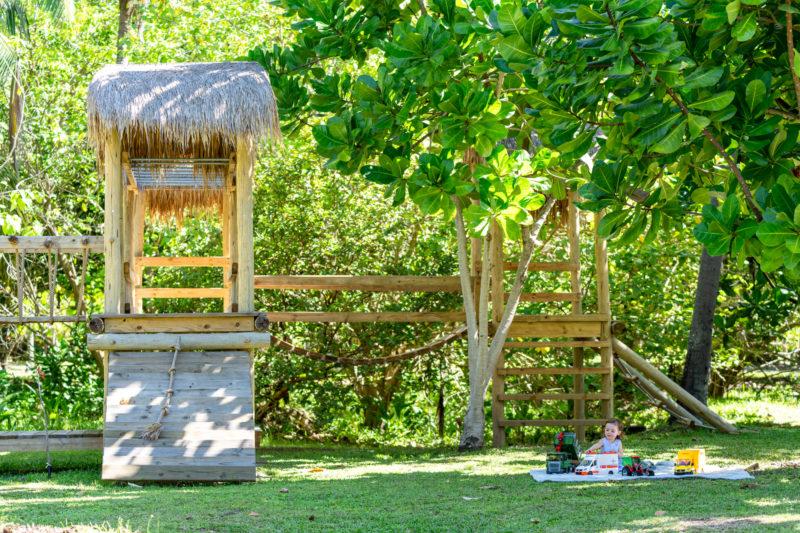 Seychelles - North Island - 1554 - North Island Resort - Children's play area and climbing frame