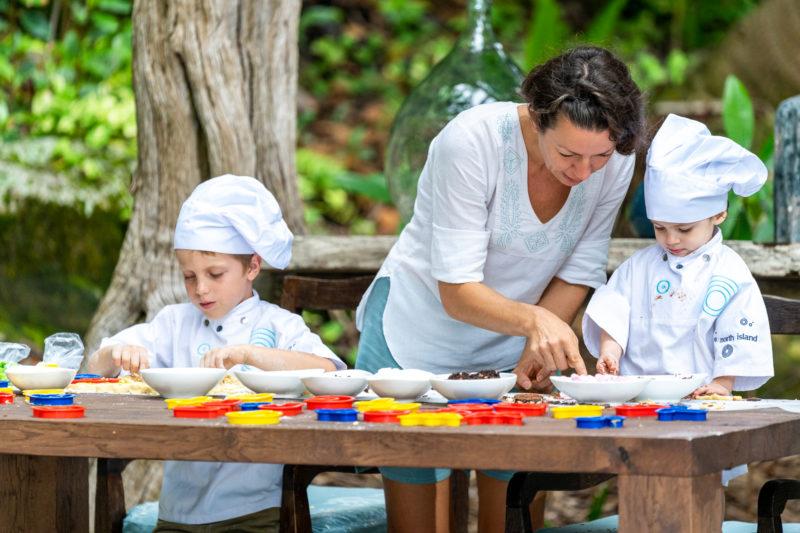 Seychelles - North Island - 1554 - North Island Resort - Cookie making with staff