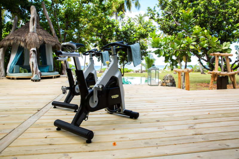 Seychelles - North Island - 1554 - North Island Resort - In Villa Gym on the decking