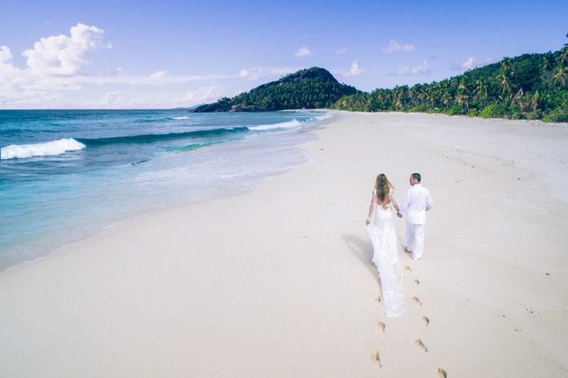 Seychelles - North Island - 1554 - North Island Resort - Wedding Day Walk on the beach