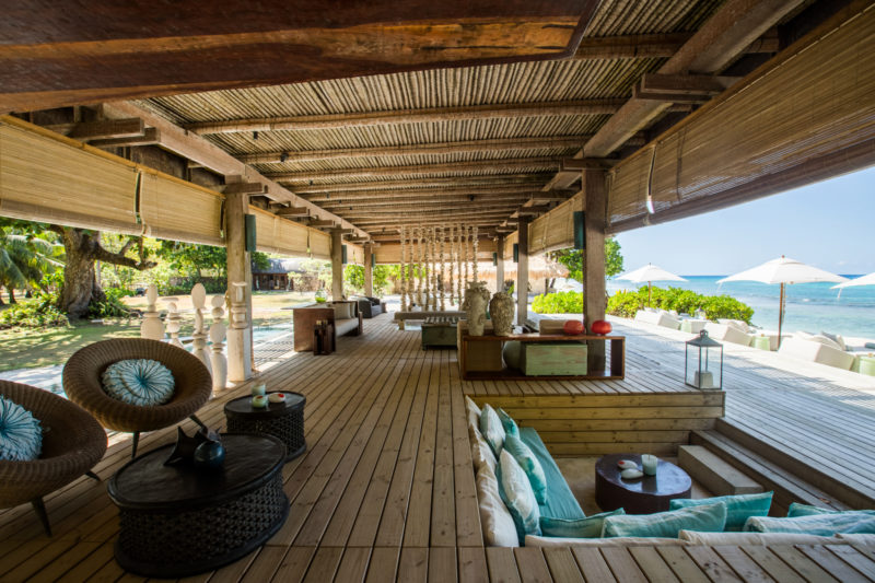 Seychelles - North Island - 1554 - North Island Resort - Piazza decking and sunken seating