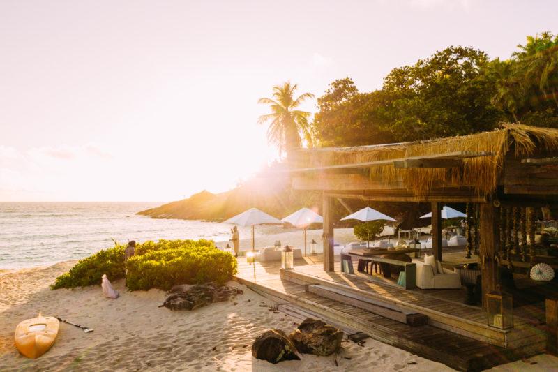 Seychelles - North Island - 1554 - North Island Resort - Piazza Sunrise at the beach