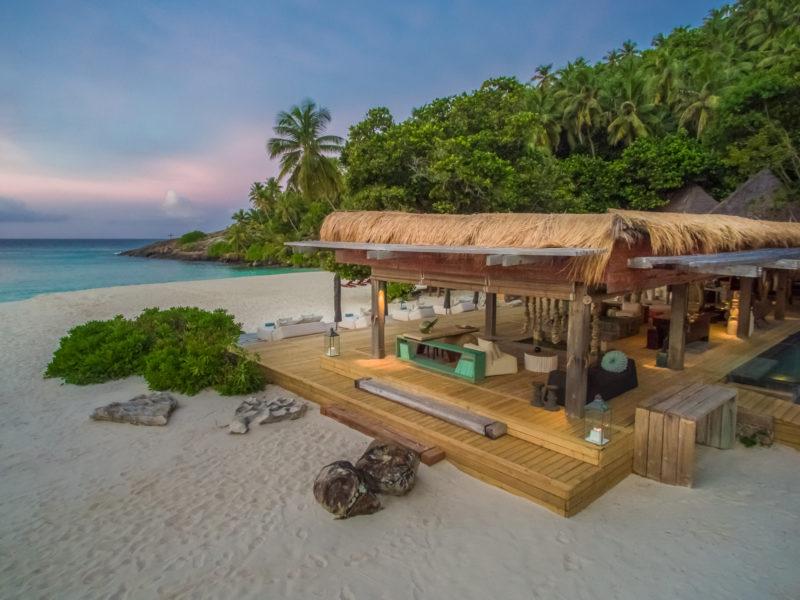 Seychelles - North Island - 1554 - North Island Resort - Piazza Deck - Beach at dusk
